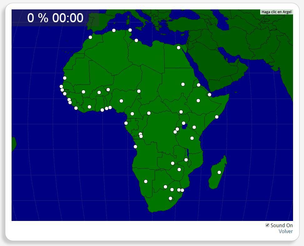 África: Capitais. Seterra