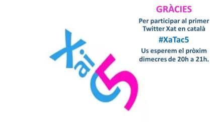@Xatac_5 1r Twitter xat  sobre #Educació i #Tics