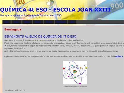 Química 4º ESO Escola Joan XXIII