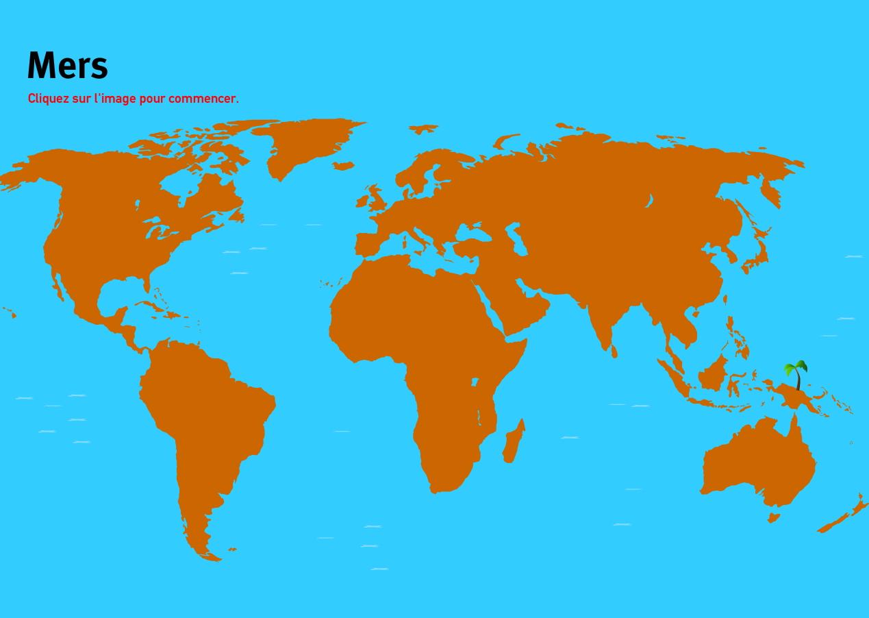 Carte Du Monde Interactive.Carte Interactive Du Monde Mers Du Monde Jeux De Geographie