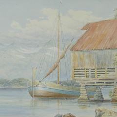 Secadero de pescado cerca de Molde (Noruega)