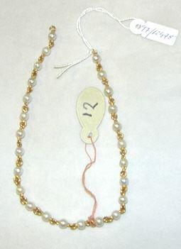 Collar de oro y perlas