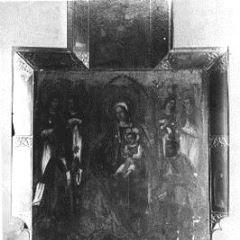 Fotografía de un retablo gótico