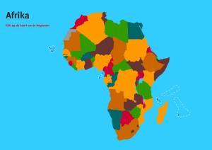 Landen van Afrika. Topo Wereld