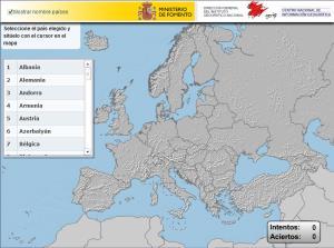 Países de Europa. Puzzle (IGN de España)