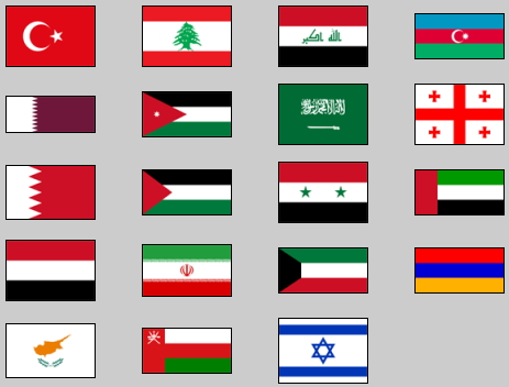 Flags of Western Asia. Lizard Point