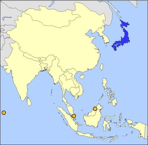Países de Asia Oriental (JetPunk)