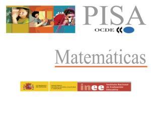 """PISA. Estímulo de Matemáticas: """"Exportaciones"""""""