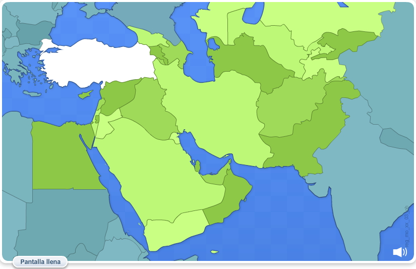 Países del Oriente Medio. Juegos geográficos