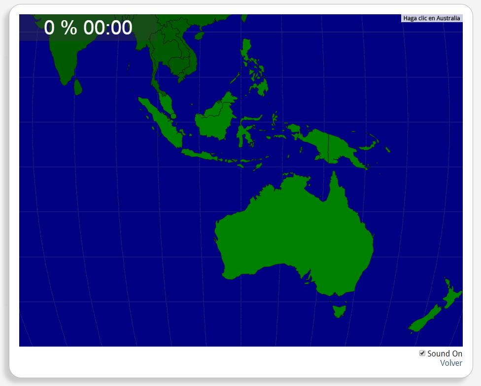 Austrália: Países Adjacentes. Seterra