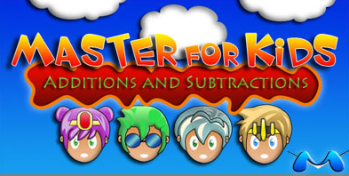 Master for Kids Additions and Subtractions. Videojuego de rol sumas y restas en inglés