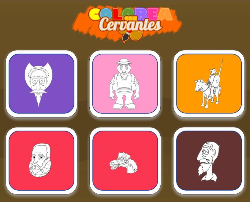 Colorea con Cervantes