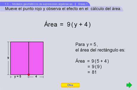 Modelos geométricos de expresiones algebraicas