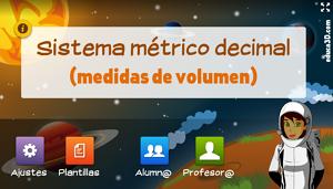 Medidas de volumen (básico) - Unidad interactiva