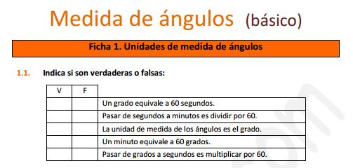 Medidas de ángulos - Ficha de ejercicios (educa3D)