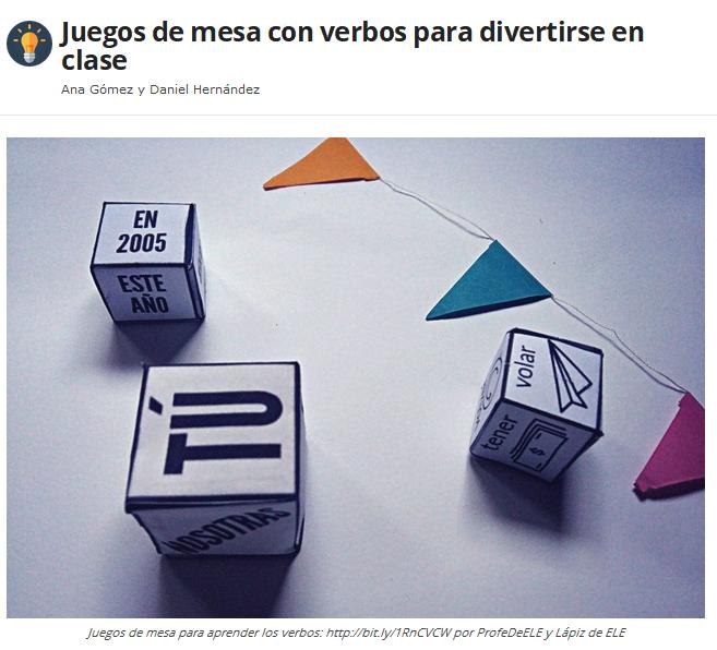 Juegos de mesa con verbos para divertirse en clase | ProfeDeELE.es