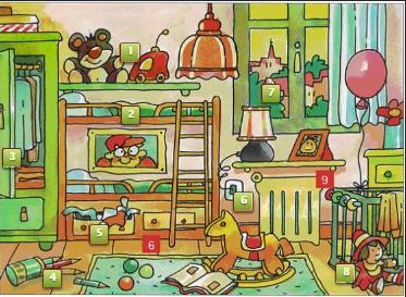 Ubicación espacial para niños