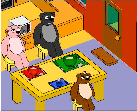Los tamaños: Pon la mesa para tres osos