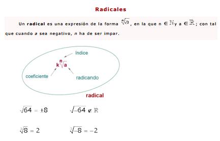 Radicales. Ficha explicativa
