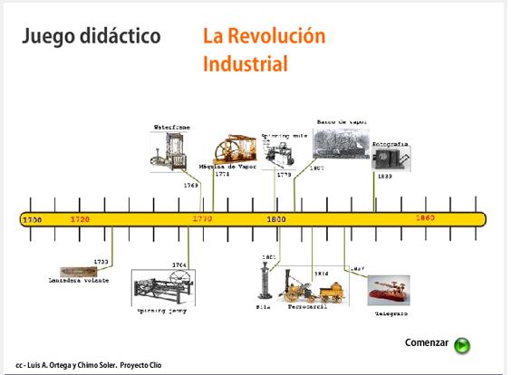 Juego didáctico sobre la Revolución industrial.