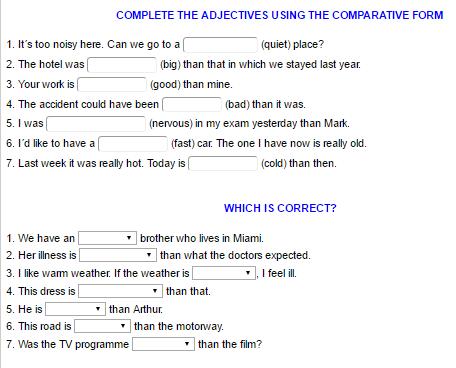 Comparative and Superlative 1