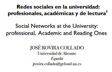 Didactalia, el social learning ideal (mención en el artículo de José Rovira Collado)