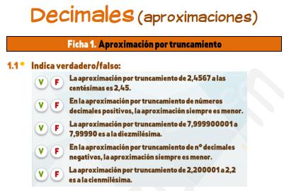 Decimales (aproximaciones)
