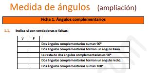 Medida de ángulos (ampliación)