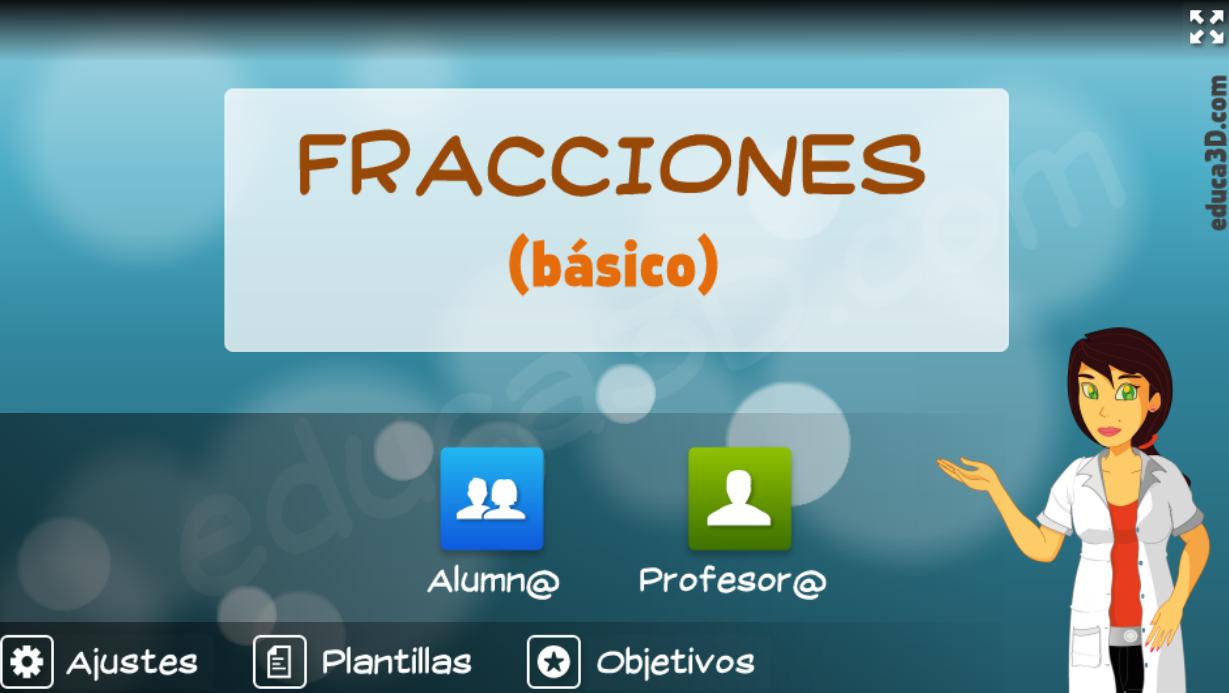Fracciones (básico) - Unidad interactiva (educa3D)