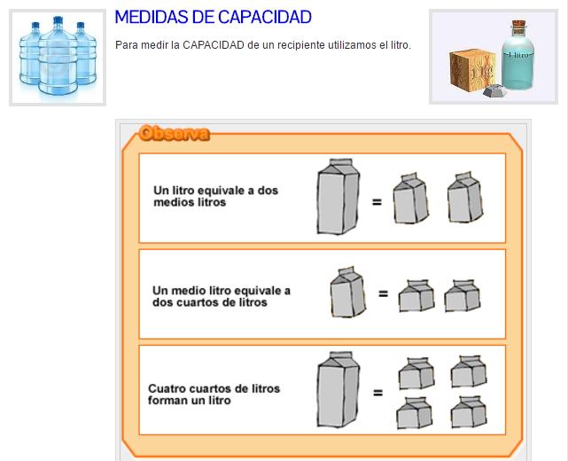 Medidas de capacidad y peso (I)
