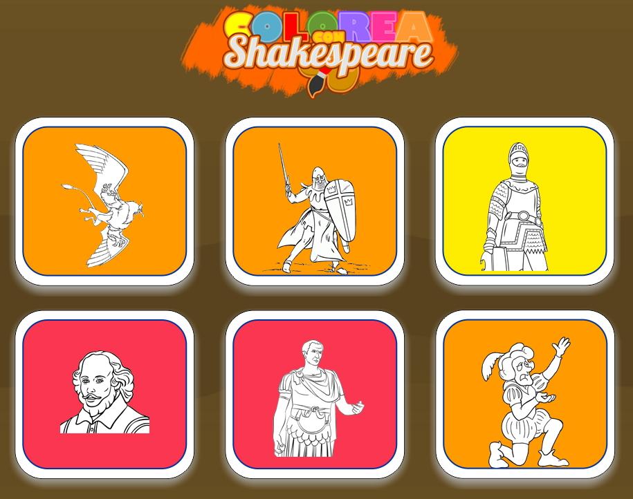 Colorea con Shakespeare