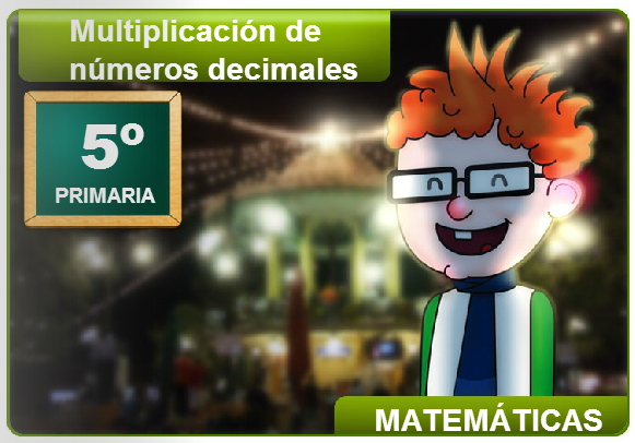 Multiplicación de números decimales (Cuadernia)