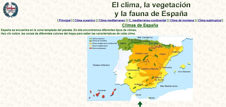El clima, la vegetación y la fauna de España