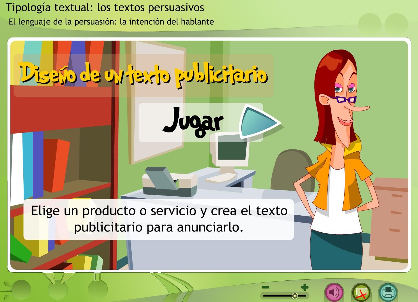 Tipología textual. Diseño de un texto publicitario