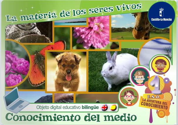La materia de los seres vivos. Unidad bilingüe (Cuadernia)