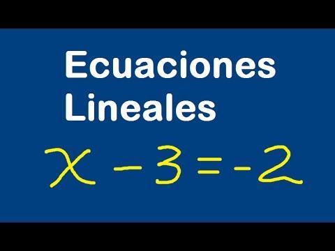 Las ecuaciones lineales