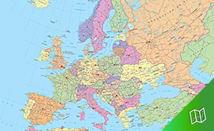 Mapa político de Europa escala 1:10.000.000