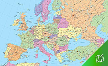 Mapa político de Europa escala 1: 5.000.000