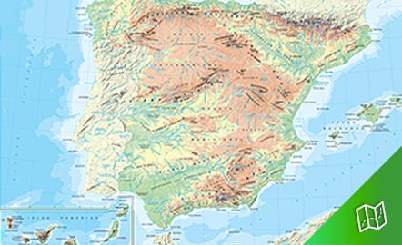 Mapa físico de España escala 1: 3.000.000