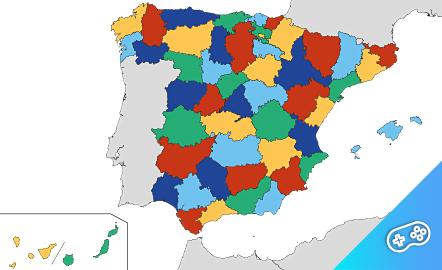 Puzle. Provincias españolas. Puzle interactivo.