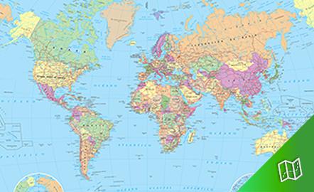 Mapa político  del mundo escala  1: 30.000.000