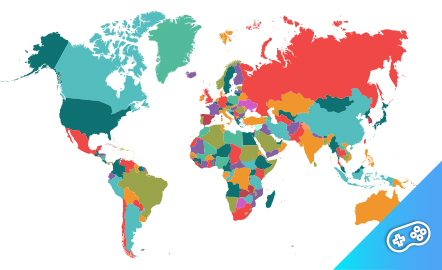 Puzle. Países del mundo. Puzle interactivo.