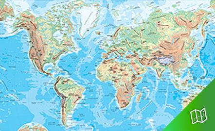 Mapa mudo físico del mundo