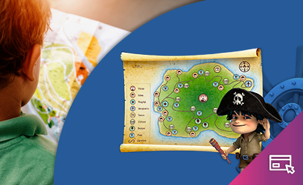 Interpretar un mapa. Una aventura en la isla del capitán Nemo.