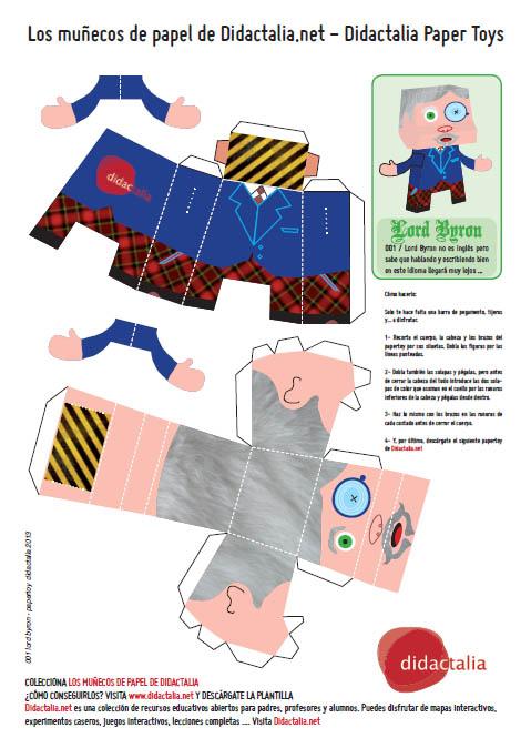 Colecciona los Muñecos de Papel de Didactalia #papertoys