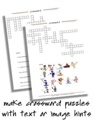 Crossword Maker. Generador de crucigramas para aprender y practicar vocabulario