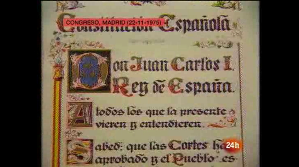 Vídeo sobre la Constitución española (RTVE)