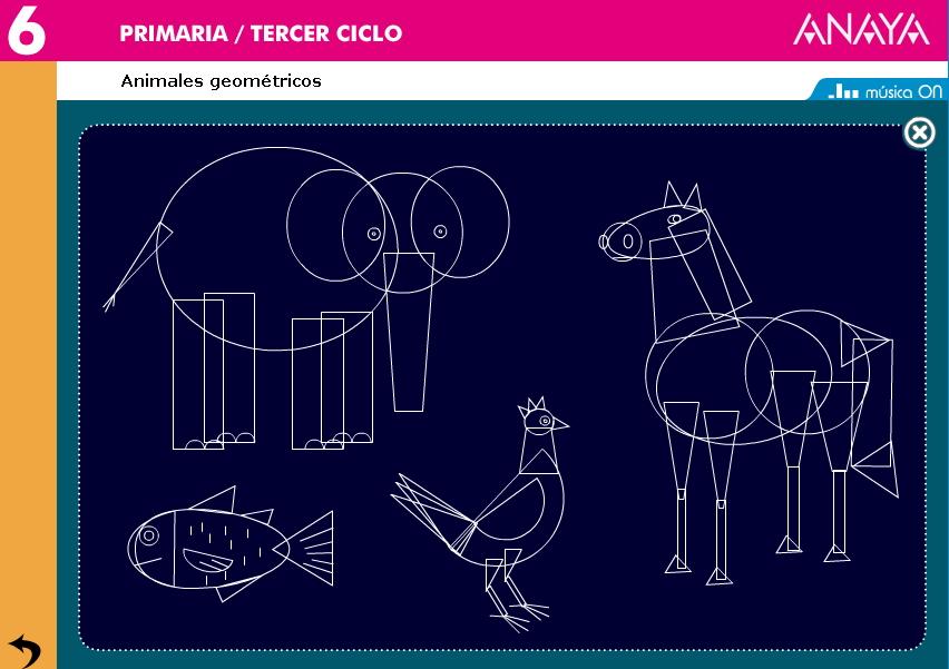 Animales Y Formas Geométricas Anaya Didactalia Material Educativo