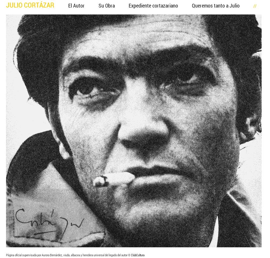 Página oficial de Julio Cortázar
