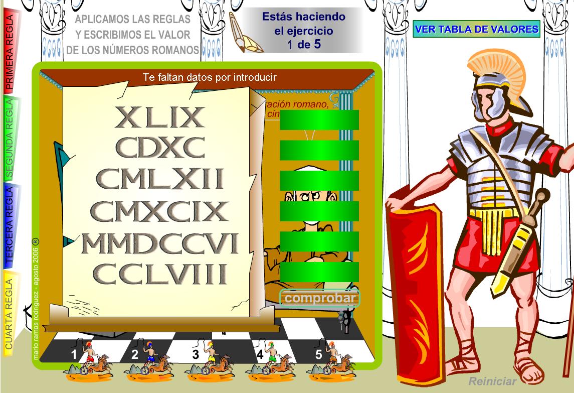 Como Se Escribe 91 En Numeros Romanos escribe el valor de los números romanos - didactalia